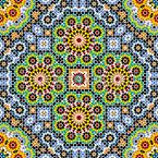 Marokko Mosaik Nahtloses Muster