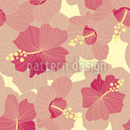 Ruby Hibiscus Seamless Vector Pattern Design