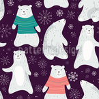 Cute Polar Bears  Repeating Pattern