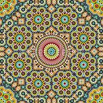 Estrela marroquina Design de padrão vetorial sem costura