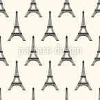 Eiffel Tower Seamless Vector Pattern Design
