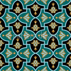 Islamische Blume Nahtloses Vektormuster