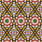 A Riad In Marrakech Seamless Vector Pattern