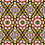 Ein Riad In Marrakesch Nahtloses Vektor Muster