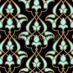 Árabe do Século XVI Design de padrão vetorial sem costura