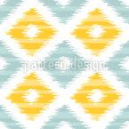 Rhombus Ikat Seamless Vector Pattern Design