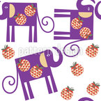 Elephants And Apples Seamless Pattern