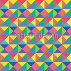 Checkered Triangles Repeat Pattern