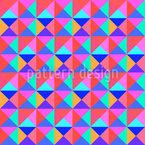 Lebendige Dreiecke Nahtloses Vektormuster