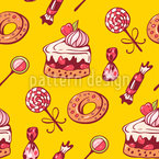 Sweet Desserts Seamless Vector Pattern Design