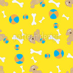 Dog Toys Seamless Vector Pattern Design
