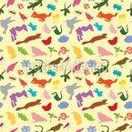 Bunte Tierwelt Nahtloses Muster