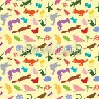 Colorful Fauna Seamless Pattern