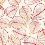 Watercolor Autumn Leaves Design Pattern