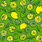 Lemons and Limes Mix Vector Ornament