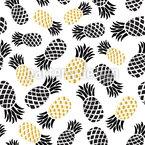 Königliche Ananas Nahtloses Muster