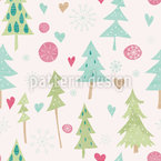 Fantasy Winter Forest Repeating Pattern