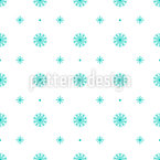 Schneeflocken Symmetrie Nahtloses Vektormuster