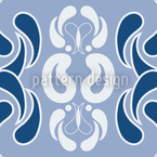 Hometown Blues Vector Pattern