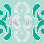 Hometown Mint Seamless Vector Pattern Design