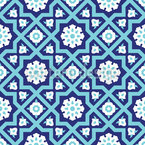Medieval Flower Seamless Vector Pattern Design