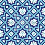 Mittelalterliche Blume Musterdesign
