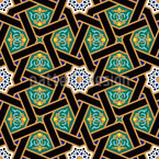 Interlocking Stars Seamless Pattern