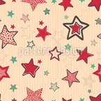 Doodle Christmas Stars Seamless Vector Pattern Design