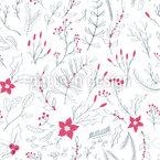 Winter Pflanzen Vektor Muster