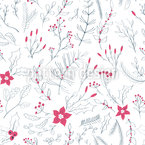 Winter Plants Vector Pattern