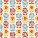 Floral Retro Pop Repeating Pattern