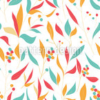 Branches And Leaves Seamless Vector Pattern