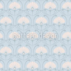 Jugendstil Fans Seamless Vector Pattern Design