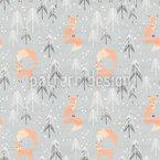 Füchse im Winterwald Muster Design