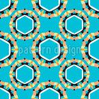 クールな六角形の円 シームレスなベクトルパターン設計