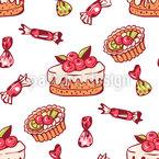 Süße Bonbons Muster Design