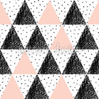 Textured Triangles Seamless Vector Pattern Design