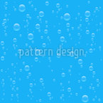 Rising Bubbles Seamless Vector Pattern