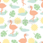 Tropical Sun Vector Pattern