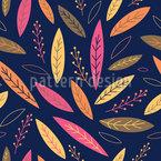 Lebhafte Herbst Blätter Rapportmuster