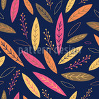 Vibrant Autumn Leaves Repeat Pattern