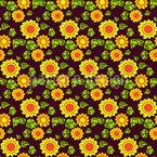 Siebziger Sonnenblumen Designmuster