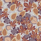 Melancholy Of Leaves Seamless Vector Pattern Design
