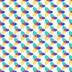 Glänzende Trinity Symbole Muster Design