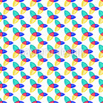 Glossy Trinity Symbols Pattern Design