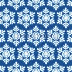 Schneeflocken Arrangement Nahtloses Vektormuster