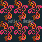 Fancy Paisley Seamless Vector Pattern Design