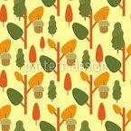 Blätter Und Eicheln Vektor Ornament