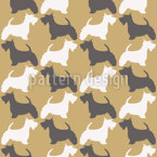 Scotch-Terrier Seamless Vector Pattern Design