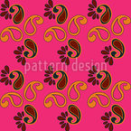 Fancy Paisley Fuchsia Seamless Vector Pattern Design